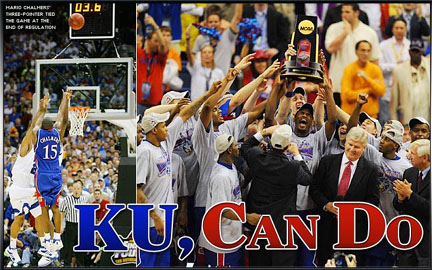 Kansas Jayhawks win the 2008 NCAA Tournament